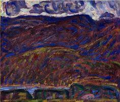 """Mountainside,"" Marsden Hartley, 1909, oil on academy board, 18 1/4 x 20 1/4"", Weisman Art Museum."