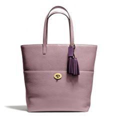 Coach :: New Legacy Turnlock Tote In Pebbled Leather