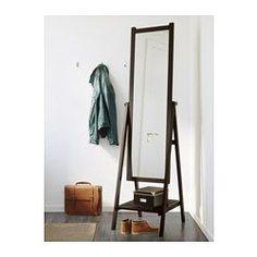 ИСФЬЁРДЕН Зеркало напольное, морилка черно-коричнев - 47x182 см - IKEA