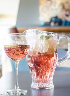 mint, lime, raspberry wine spritzer recipe