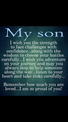 For my amazing son!