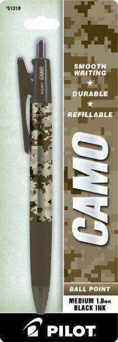 Pilot Camo Retractable Ball Point Pen, Marines, Medium Point, Black Ink, 1 Pen (51310)
