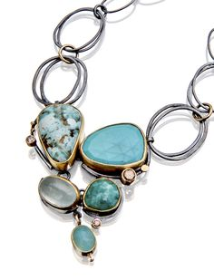 Turquoise Beach Pebble necklace