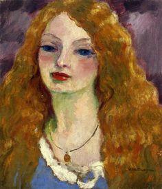 kees van dongen(cornelis theodorus maria 'kees' van dongen, 1877-1968), portrait of a woman, 1909. oil on canvas, 54 x 47.6 cm. private collection