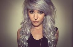 The over-toned blonde look. A slight purple caste gives a rather nice pastel violet colour in blonde hair...
