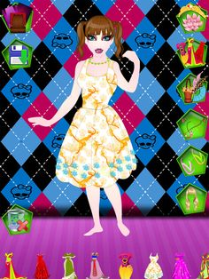 Y8 Dress Up : dress, Dress, Dolls, Fashion, Dresses
