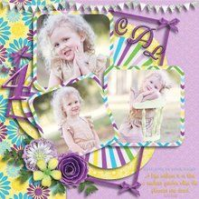 August Mixology: Always Together 12x12 Layout Templates