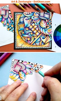 Easy Zentangle, Zentangle Drawings, Doodles Zentangles, Zentangle Patterns, Doodle Drawings, Doodle Art, Zen Doodle Patterns, Tangle Doodle, Tangle Art