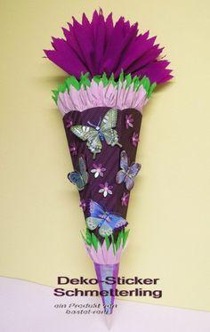 BASTELSET  Schultüte Zuckertüte  Schmetterling lila von bastelreni, €22,90
