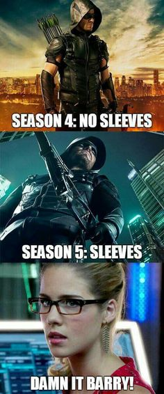 Once you get Felicity started... she will shut you down!! #DamnItBarry #ShortVersusLongSleeves #Arrow