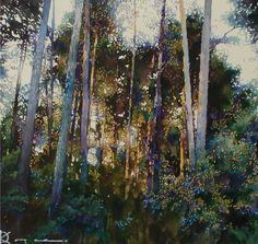 Because all the art I love is focused on trees.  Oleg KOZAK watercolor: WATERCOLOR 6