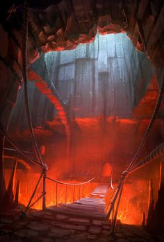 Fire Caves V - concept by ANTIFAN-REAL