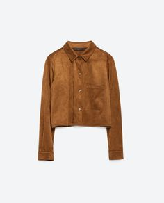 CROPPED OVERSHIRT-View all-Tops-WOMAN | ZARA United States