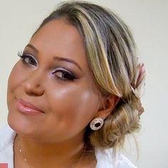 Maquiagem para noivas e madrinhas (degradê de tons de rosa) por Daniele Fernandes