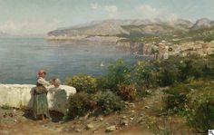 """Ansicht von Capri von Bernardo Hay. Signiert unten rechts: Bernardo Hay Capri. Öl auf Leinwand. 35,5 x 55,5cm. Rahmen. Ergebnis 8.750 242. Auktion """"Alte Kunst"""", Los 1629, 30.06.2005"""