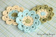 Beatiful Crochet Coaster Pattern by Daisy Cottage Designs, via Flickr