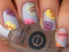 Nail Art Designs for Valentine's Day. http://www.ivillage.com/diy-nail-art-designs-valentines-day/5-b-520737#