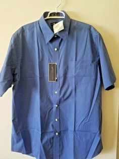 NWT NEW mens green navy blue white striped CROFT /& BARROW wrinkle resist shirt