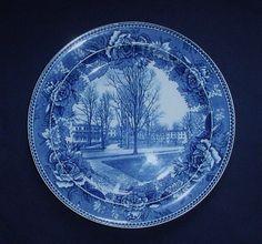 Vintage Wedgwood Etruria Flow Blue Plate Maplewood Hotel Pittsfield Mass c1900