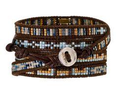 Chan Luu | Blue Seed Bead Wrap Bracelet in Cheap Chic Bracelets at TWISTonline