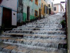 Storm on the steps, Sao Luis, Brazil