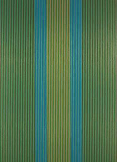 Karl Benjamin - #21 (green,brown), 1979
