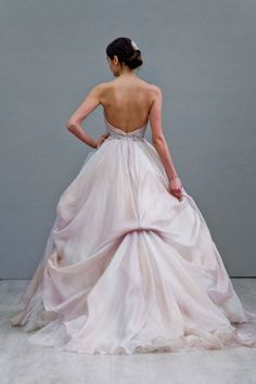 Wedding dress from the Lazaro Fall 2015 Collection.