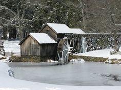Winter at Mabry Mill