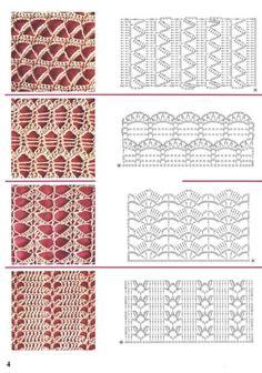 54 Ideas for knitting stitches dictionary charts Crochet Stitches Chart, Crochet Motifs, Crochet Diagram, Filet Crochet, Knitting Stitches, Crochet Lace, Knitting Patterns, Crochet Patterns, Motif Bikini Crochet