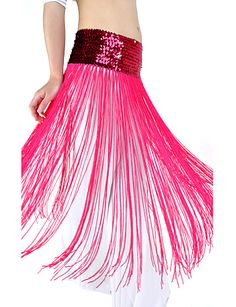 dancewear de poliéster con borla / cinturón de lentejuelas danza del vientre para las damas más colores - EUR € 5.81