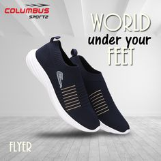 Walk, Run, Exercise, sports. Our Flyer Series are well designed that ensures stability and the right grip for every environment. Lightweight Running Shoes, Running Shoes For Men, Sports Footwear, Sports Shoes, Best Online Shopping Sites, Shoe Manufacturers, Social Media Design, Your Shoes, Stability