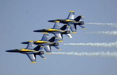 The Blue Angels. TELL YOUR FRIENDS that we'd love to see them at our aviation themed restaurant, The Left Seat West, in Glendale, Arizona!! Check out our décor at: http://www.facebook.com/pages/Left-Seat-West-Restaurant/192309664138462
