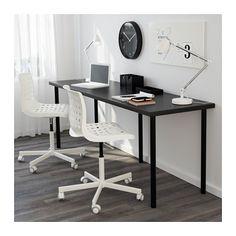 LINNMON / ADILS Bord - svartbrun/svart - IKEA