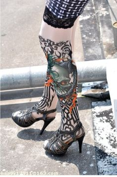 a870e63180 Cheap Dragon of Death Tattoo Stockings online - All Products