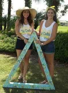 Delta Delta Delta at Florida Gulf Coast University #DeltaDeltaDelta #TriDelta #BidDay #letters #sorority #FGCU