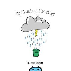 "#Buenosdías! Como dice el refrán, ""en #abril, aguas mil"", nunca mejor dicho! :) (a truth as a temple) #frase"