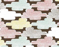 Up Up & Away Cloudspotting - Organic Cotton Print Fabric from Cloud 9 Fabrics