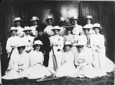 Bega Women's cricket team. Captain was Mrs Evershed (wife of Dr Evershed) - Bega, NSW, n.d. / by unknown photographer   Flickr - Photo Sharing!