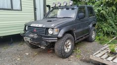 Freedom is off roading Black pajero