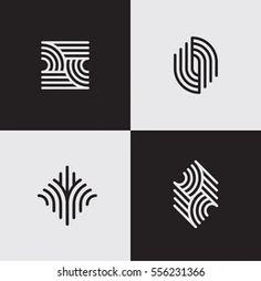 Line symbols | Coleção de fotos e imagens stock por Plasteed | Shutterstock Identity, Buy Furniture Online, Branding, Furniture Logo, Minimal Logo, Geometric Lines, Logo Google, Graphic, Free
