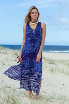 Ruby yaya python maxi dress