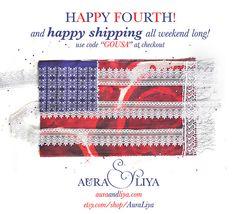 Happy Fourth, Happy Shipping :) at Aura  Liya