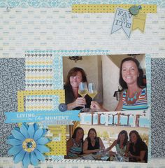 Layout created for Scrapbook Express with Authentique Favorite #scrapbookexpress  #authentiquepaper
