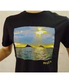 Men's RVCA X Island Snow Hawaii ISH Limited Edition Collaboration Premium Tee; Color Options: Black. $28.00