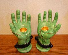 Frankenstein's Monster Candle Holders