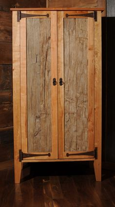 Reclaimed Wood Armoire Wardrobe Closet (etsy)