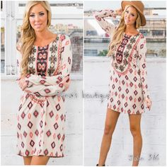 Tunic style dress Dress has a tribal print and looks super cute with leggings or alone. Soft and comfortable Price is firm unless bundled. Dresses