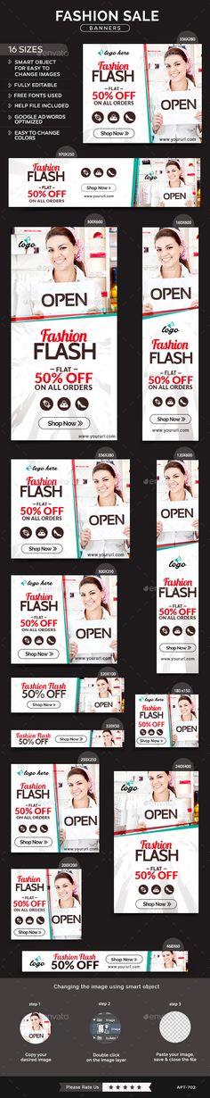 Fashion Sale Banners Template #design Download: http://graphicriver.net/item/fashion-sale-banners/11872527?ref=ksioks