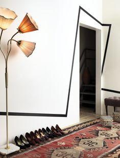 striking doorway with off-kilter stripe #black