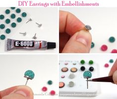 DIY Earrings with Embellishments